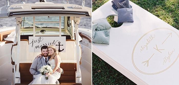 Summer Wedding Planning Tips from PPHG Events   Charleston, SC   Left: Amelia + Dan; Right: Virgil Bunao