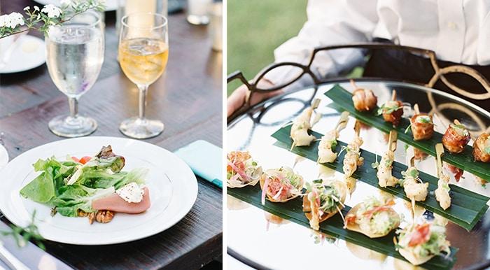 Tips for Summer Weddings | Light & Fresh Cuisine by PPHG Events | Charleston SC |Left: Aaron + Jillian; Right: Virgil Bunao