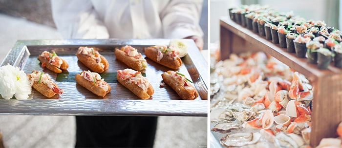 Summer Wedding Tips from PPHG Events | Light & Delicious Cuisine | Charleston SC | Left: Marni Rothschild; Right: Gideon Photography