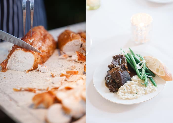 Cuisine by PPHG, Charleston, SC | Left photo by Hunter McRae; Right photo by Aaron + Jillian