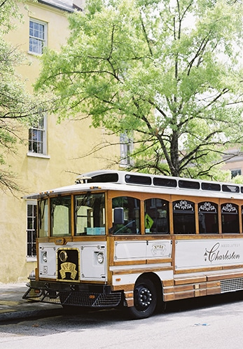 Charleston trolleys to transport guests | Charleston-inspired tips to make your destination wedding #1 | Photo by Virgil Bunao