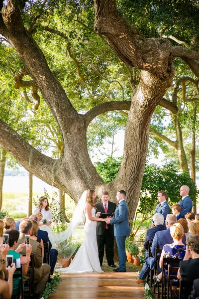 October Wedding at Lowndes Grove Plantation | Charleston, South Carolina | Lavender Details | Photo by Dana Cubbage Weddings