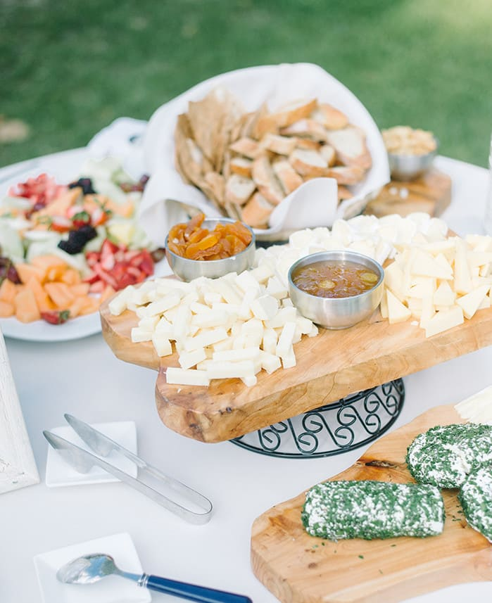 March weddings in Charleston SC | Artisan cheese display by PPHG | Spring wedding inspiration at Lowndes Grove Plantation | Photo by Aaron and Jillian