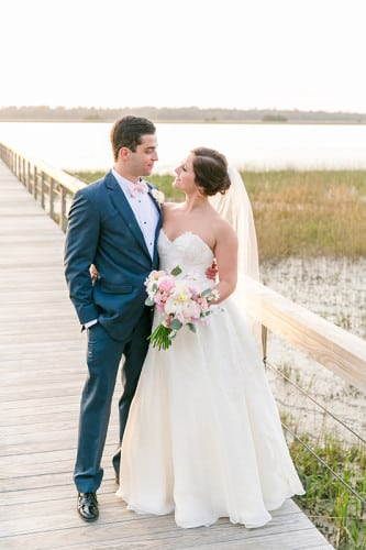 Gabby & Pedro's riverfront wedding reception at Lowndes Grove Plantation in Charleston, South Carolina | Photo by Dana Cubbage Weddings