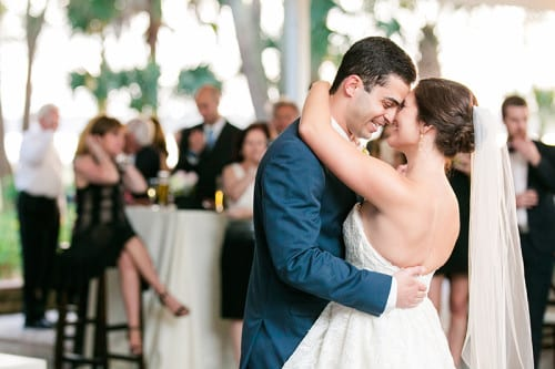 Gabby & Pedro's first dance at Lowndes Grove Plantation in Charleston, South Carolina | Spring wedding inspiration | Photo by Dana Cubbage Weddings