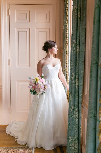 Gabby inside the historic Lowndes Grove Plantation | Outdoor March wedding in Charleston, South Carolina | Photos by Dana Cubbage Weddings