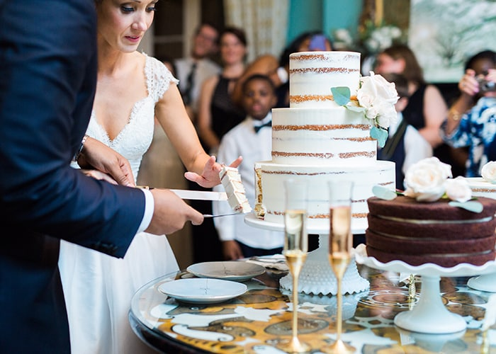 A trio of wedding cakes from PPHG pastry chef Jessica Grossman at The William Aiken House in Charleston, South Carolina | Photo by Catherine Ann