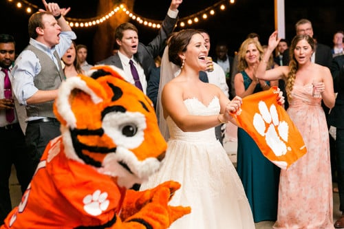 School spirit at Gabby & Pedro's Lowndes Grove Plantation in Charleston, SC | Spring wedding inspiration | Photo by Dana Cubbage Weddings