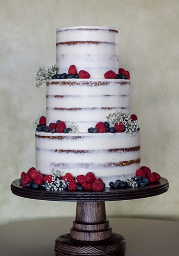 Three tier wedding cake by PPHG pastry chef Jessica Grossman | The River House at Lowndes Grove