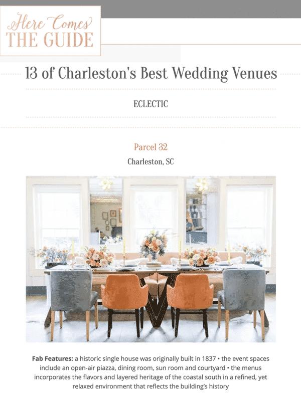 13 of Charleston's Best Wedding Venues
