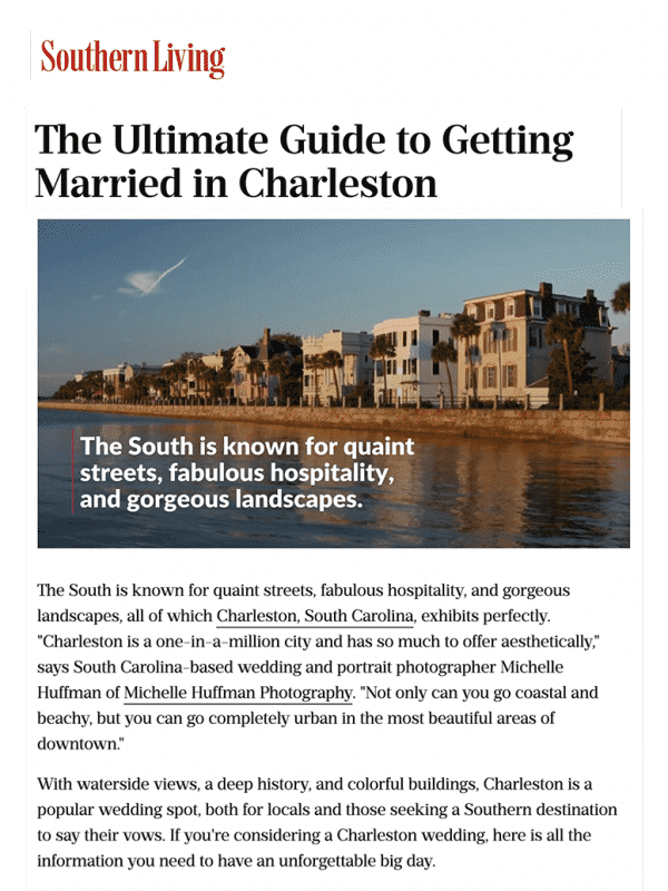 Southern Living's Ultimate Guide to Getting Married in Charleston